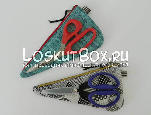 Готовые чехлы для ножниц - изделия из лоскутков