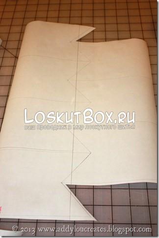 Нанесение шаблона на ткань