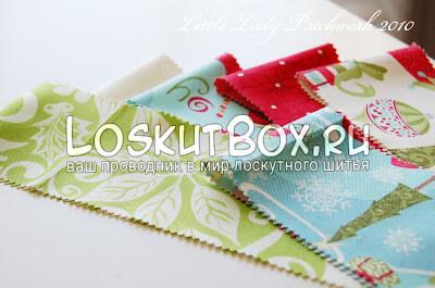 Лоскутки ткани новогодней тематики