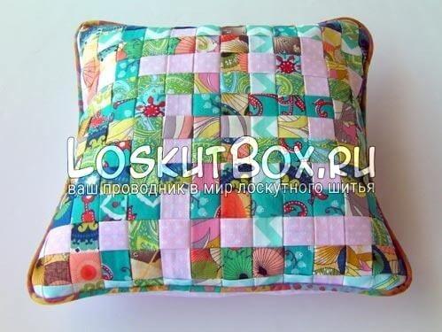 Подушка из полосок