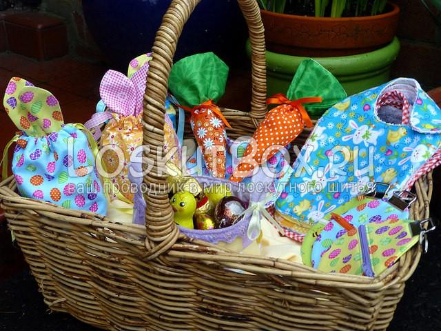 Пасхальный декор корзины