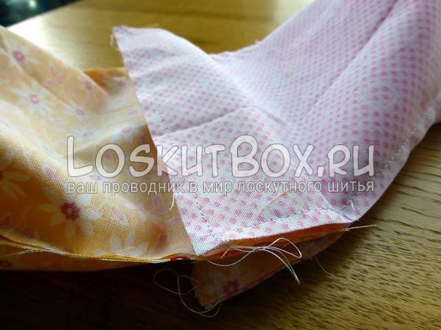 Сшиваем мешочек и подкладку
