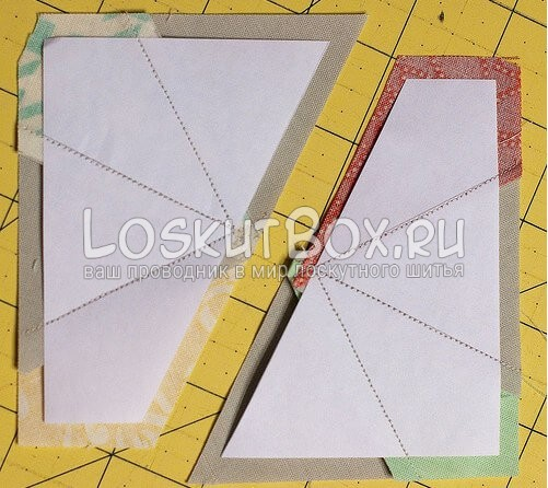 Лоскутный блок — калейдоскоп (8)
