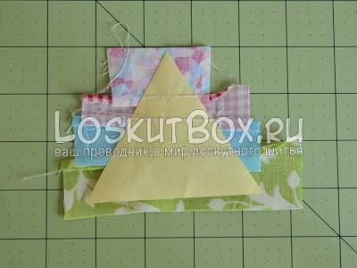 лоскутный блок из полосатых треугольников (11)