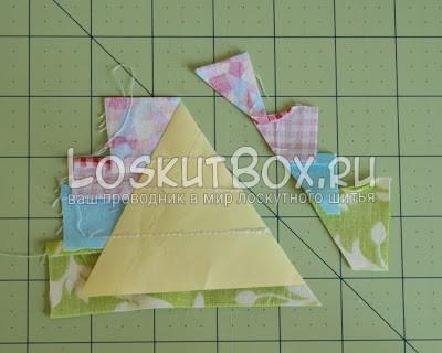 лоскутный блок из полосатых треугольников (12)