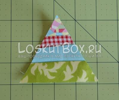 лоскутный блок из полосатых треугольников (14)