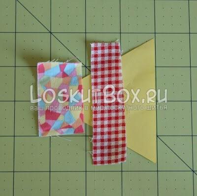 лоскутный блок из полосатых треугольников (6)