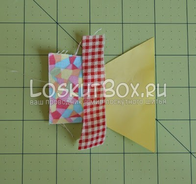 лоскутный блок из полосатых треугольников (8)