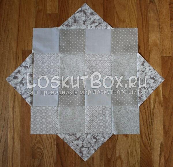 Лоскутная салфетка на стол (15)