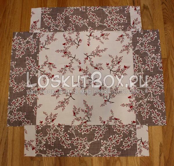 Лоскутная салфетка на стол (23)