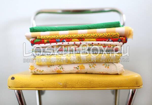 лоскутная подушка для стула