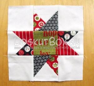 лоскутное одеяло со звездами (37)