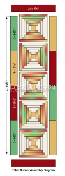 лоскутный блок бревенчатая изба (1)