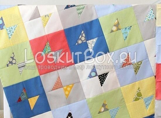 лоскутный блок галстук-бабочка (1)