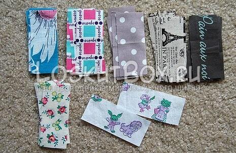 Материал для салфетки. 26 кусочков ткани разных видов