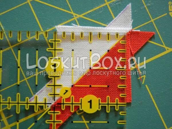 Соединили треугольники для бантов