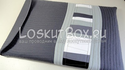 сумка для ноутбука в стиле пэчворк