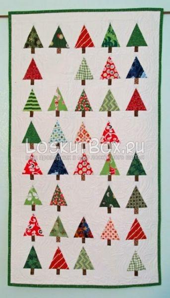 Совокупность блоков с рождественским деревом