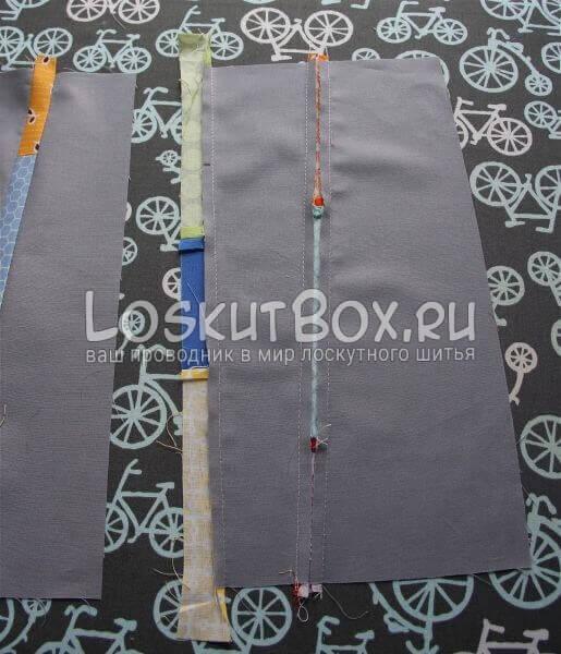 Сшиваем лоскуты по схеме
