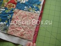 Окантовка боковой стороны одеяла