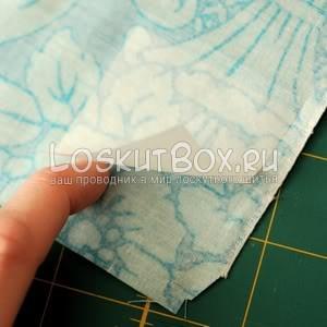 Клейка сетки на ткань.Сказочный домик