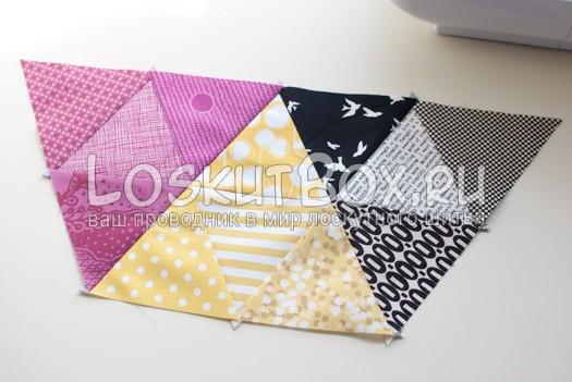 1 часть шестиугольника. Подушка из треугольников