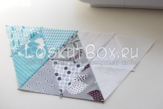 2 часть шестиугольника. Подушка из треугольников