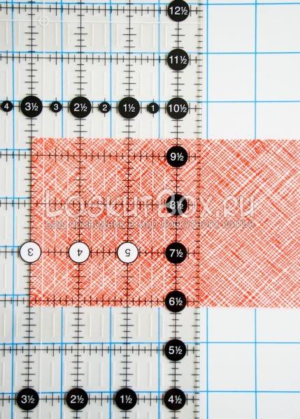 Отмеряем ширину квадрата