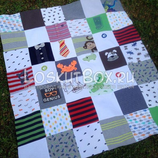Сшивание квадратов для верхней стороны одеяла
