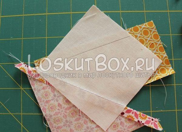 Обрезка ткани по периметру треугольника