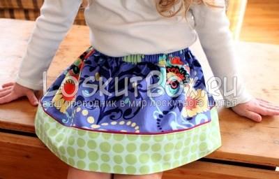 Детская юбка в стиле пэчворк
