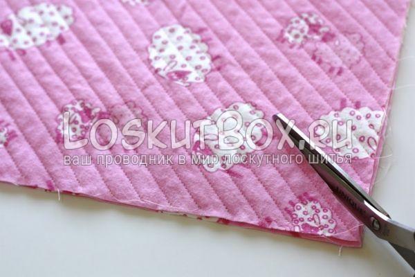 Разрезали 3 слоя ткани