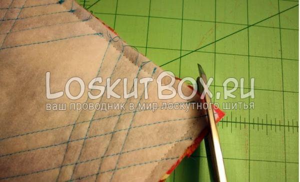Совместили переднюю и заднюю части подушки