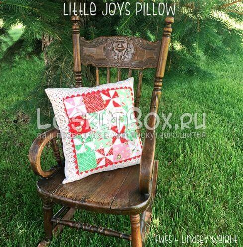 Лоскутная подушка Маленькие радости