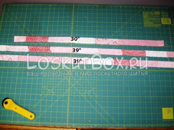 Размеры завязок для фартука