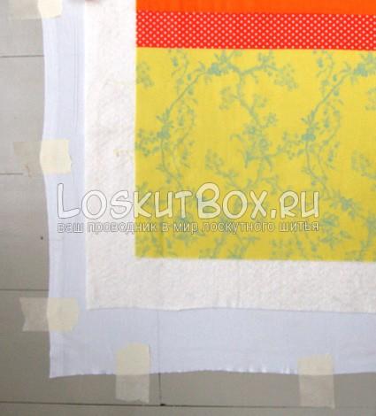 крепление лоскутного одеяла