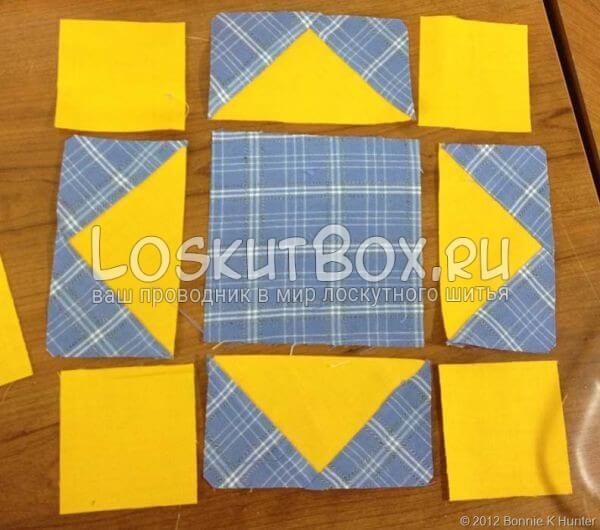Составление и сшивание внутреннего блока