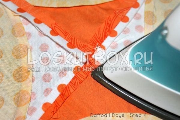 Утюжка детали из ткани