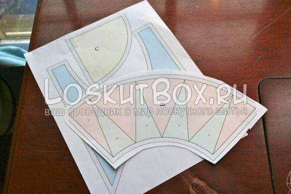 бумажный шаблон для блока