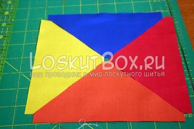 разноцветные детали из ткани на столе