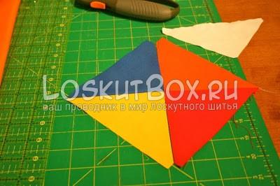 квадрат из ткани коврик для резки линейка