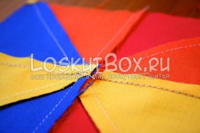 разноцветный блок из ткани