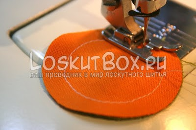 круг из ткани машинная лапка игла