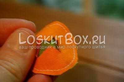 руки круг из ткани разрез
