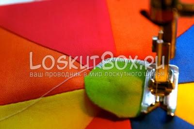 круг из ткани зигзаг машинная лапка
