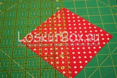квадрат из ткани линейка коврик для резки