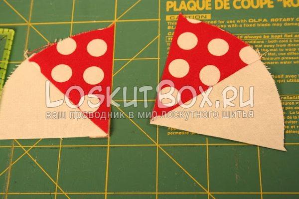 детали из ткани на рабочей поверхности