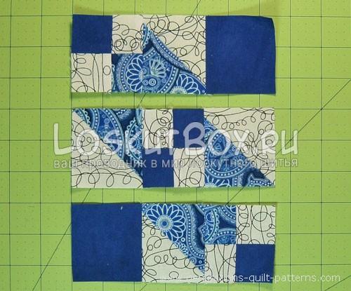 сшиваем детали вместе полосами