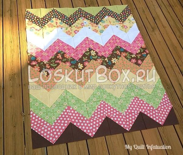 одеяло шеврон треугольники