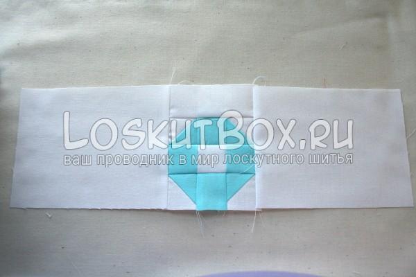пришивание боков 1 секция